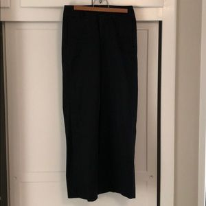 Helmut Lang black wide leg trousers